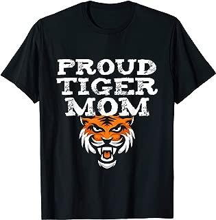 Proud Tiger Mom School Spirit Mascot T-Shirt For Women