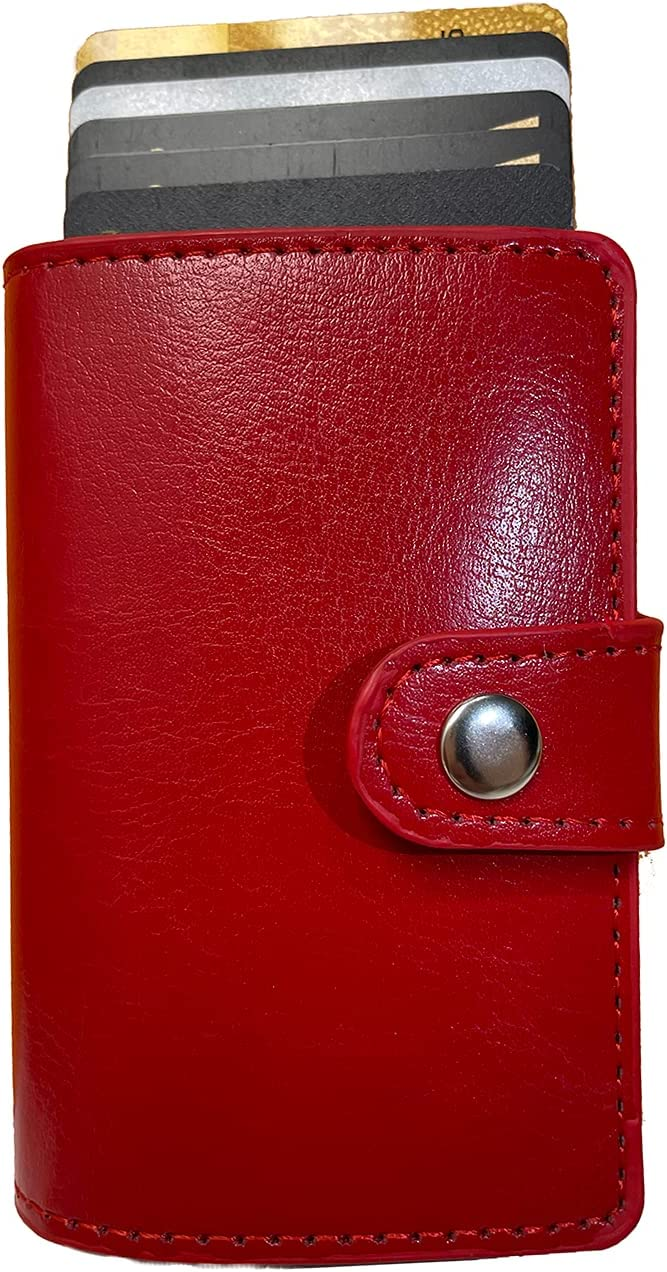 Credit Card Holder for Women or Men, RFID Blocking Genuine Leath