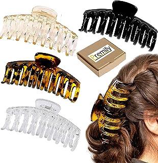 4Pcs Hair Claw Clips - 4.3'' Acrylic Nonslip Jumbo Hair Clips, Strong Hold Hair Jaw Clips, Big Hair Clips With Stron Grip,...