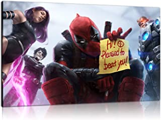 HD Print Oil Paintings Home Wall Decor Art on Canvas Deadpool X Force Team Unframed (24x36inch)