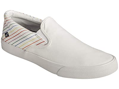 Sperry Striper II Slip-On Pride (White) Men
