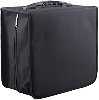 Fasmov Polyester 400 Disc CD/DVD Binder DVD Wallet Case, Black