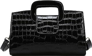 Milya Damen Leder Vintage Handtasche Clutch Henkeltasche Abendtasche Umhängetasche Ledertasche Schultertasche mit Schulter...