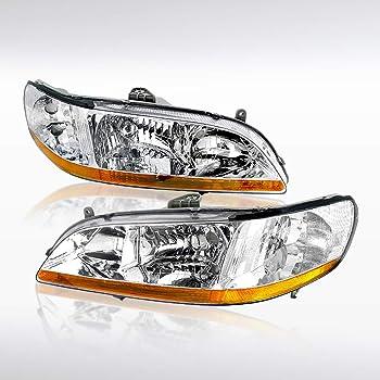 Amazon Com Dwvo Headlights Assembly Compatible With 1998 2002 Honda Accord Chrome Housing Headlamp Automotive