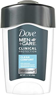 Dove Men + Care Clinical Protection Antiperspirant Deodorant Solid Clean Comfort 1.70 oz (Pack of 5)