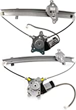 Window Regulator Compatible with MITSUBISHI LANCER 2002-2003 Front and Rear Left Side Set of 2 Power with Motor ES/LS/OZ Rally Models