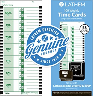 lathem e17 time cards