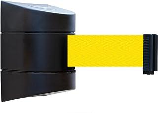 No Custom Yellow Webbing//BlackCleaning In Progress Standard Belt End Maximum 13 Tensabarrier 896-STD-33-MAX-NO-YCX-C Standard Wall Mount Black
