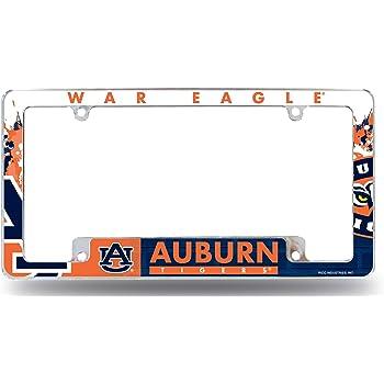 Auburn University Tigers Silver Metal License Plate Frame