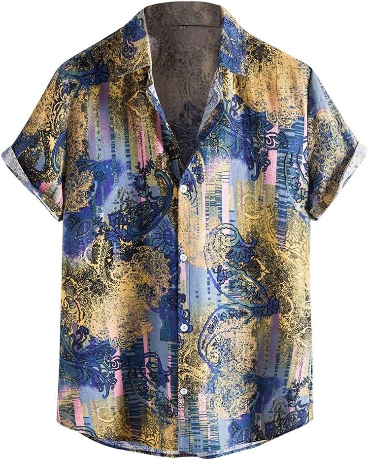 Max 41% OFF TJLSS Summer Direct store Men Hawaiian Shirt Retro Printed Short Sleeve Lapel