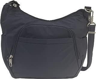 Travelon Anti-Theft Classic Crossbody Bucket Bag (One_Size, Charcoal/Grey Lining)