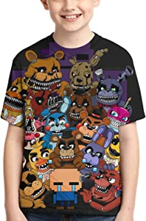FNAF Boy T-Shirt Game Tee Anime Cartoon Print Tee Youth Fashion Tops T-Shirts for Boys Girls Kids
