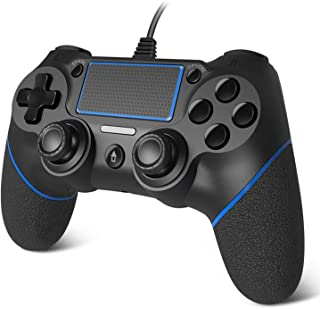 Diester PS4コントローラー ゲームパッド 人体工学 2重振動 有線 USB接続 PS3 PC PS4対応 1年保証