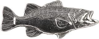 Smallmouth Bass Fish Freshwater Fish Pewter Lapel Pin, Brooch, Jewelry, F086