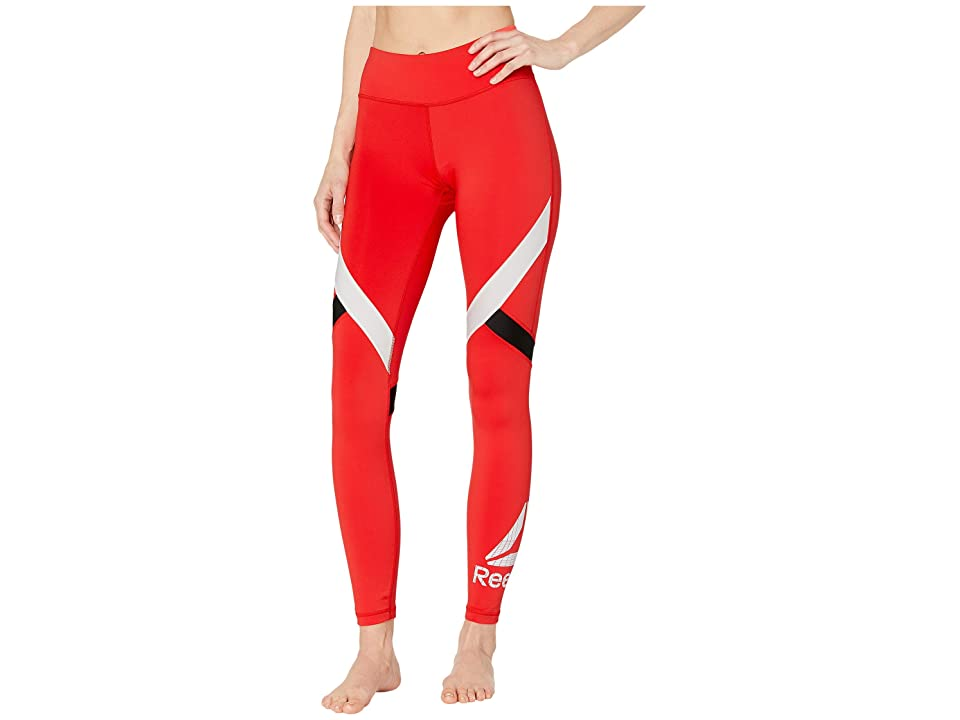 Reebok Work Out Ready Big Delta Tights (Red) Women