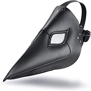 Raxwalker Plague Bird Beak Doctor Mask Steampunk Halloween Costume Props Black Anti-Fog Eyeglasses