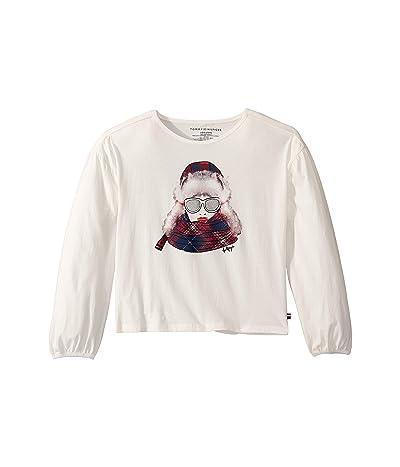 Tommy Hilfiger Kids Ski Girl Long Sleeve Tee Shirt (Big Kids) (Snow White) Girl