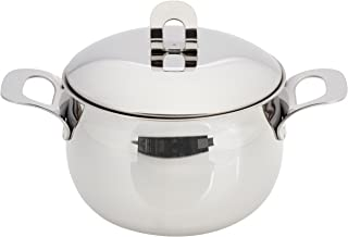 ExcelSteel Made in Italy 4 QT Stainless Stockpot W/Sandwiched Base