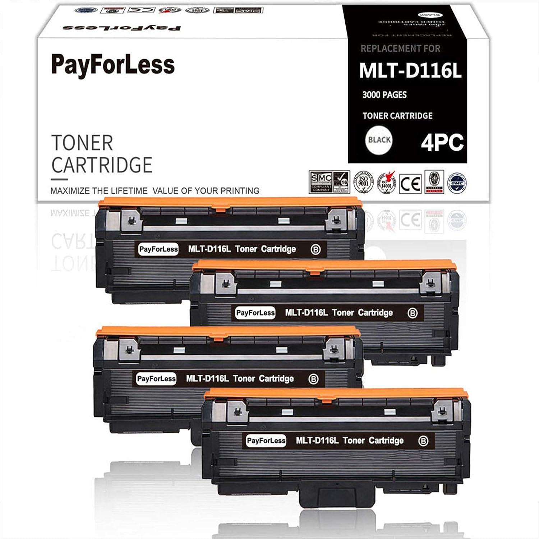 PayForLess 4PK MLT-D116L MLTD116L D116L MLT-D116S D116S for Samsung Xpress M2885FW M2825DW M2875FW M2835DW M2875 M2625 M2835 M2625D M2875FD Xpress M2825DW Xpress M2875FW Xpress M2885FW