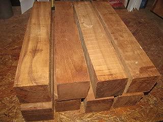 (Woodworking Lumber) Eight (8) FEQ Teak Turning Blanks Lathe Block Carve Wood Lumber 2 X 2 X 11