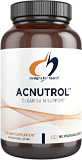 Designs for Health Acnutrol Clear Skin Support Pills - Pantothenic Acid + 50000 IU Vitamin A, Vitamins D + E, Carnitine + ...