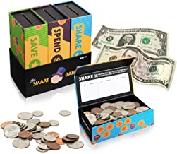 Smart Piggy Bank Trio Set for Kids- 3-in-1 Novelty, Money-Wise Educational Toy for Boys + Girls-Learn About Spending, Saving, Sharing- Large + Unisex Colorful Designs- Perfect Birthday-Christmas Gift