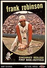 1959 Topps # 435 Frank Robinson Cincinnati Reds (Baseball Card) Dean's Cards 5.5 - EX+ Reds