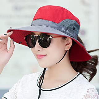 Vadeytfl Sun Hat Outdoor Baseball Sports Hat Summer Foldable Detachable Defense Wind Rope (Color : Gray)