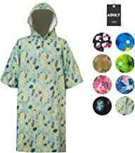 Runpilot Beach Surf Poncho Changing Towel Robe with Hood Pocket for Surfing Swimming Bathing Adults Men Women