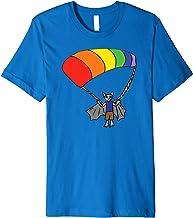 Bat Parasailing Rainbow Dressed Animal Premium T-Shirt