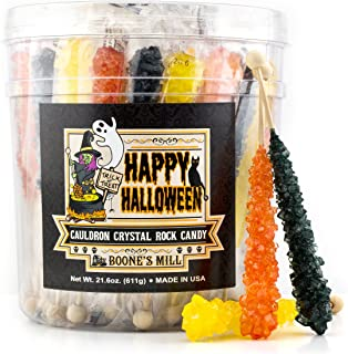 Boone's Mill | Holiday Themed Rock Crystal Candy Sticks | Halloween | 36 Count