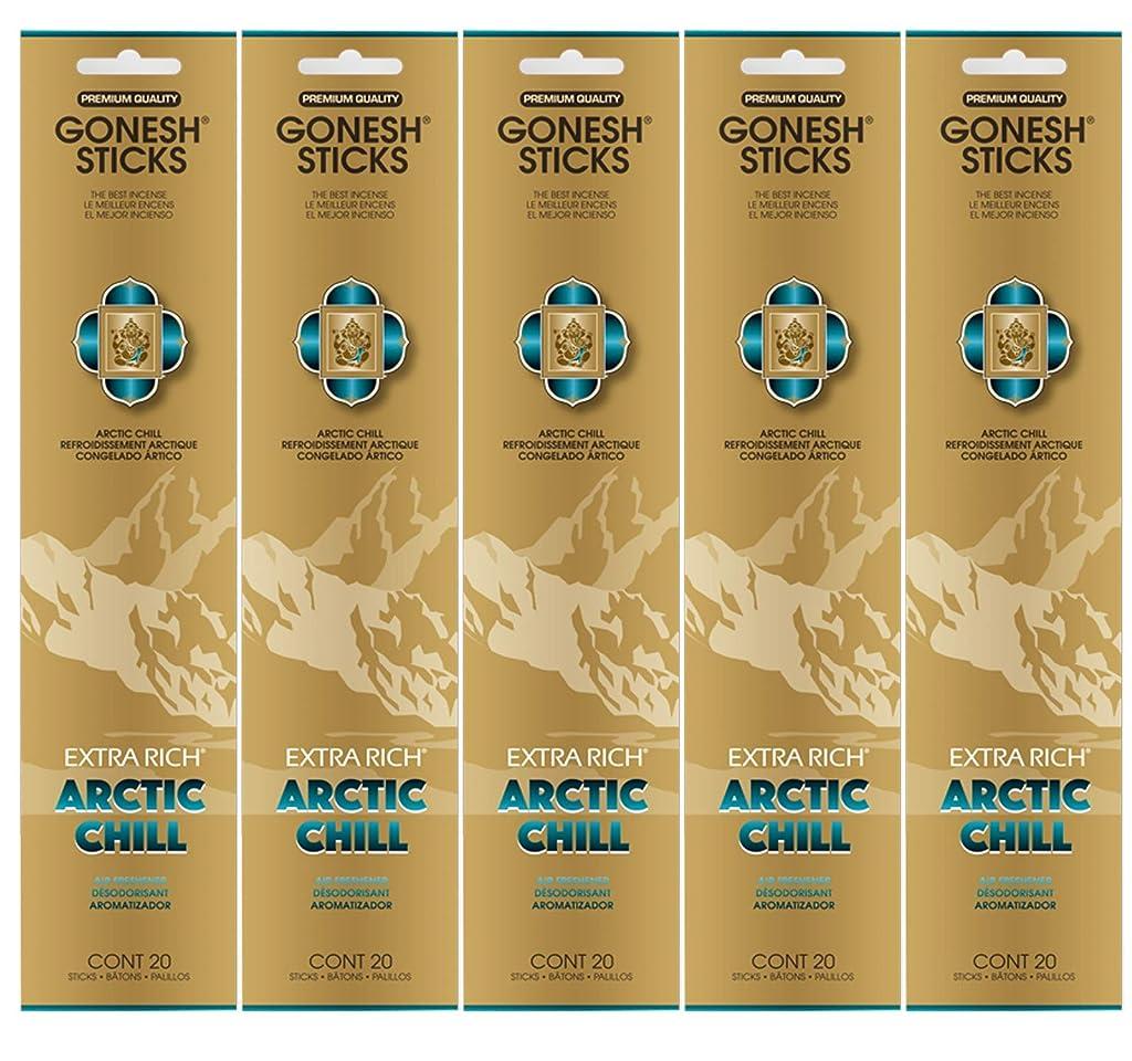 虐待白菜医学Gonesh お香スティック エクストラリッチコレクション - Arctic Chill 5パック (合計100本)