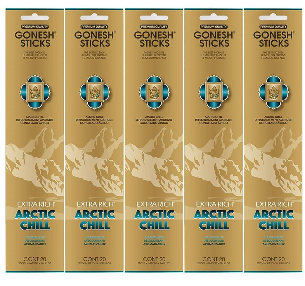 局洗剤祭司Gonesh お香スティック エクストラリッチコレクション - Arctic Chill 5パック (合計100本)