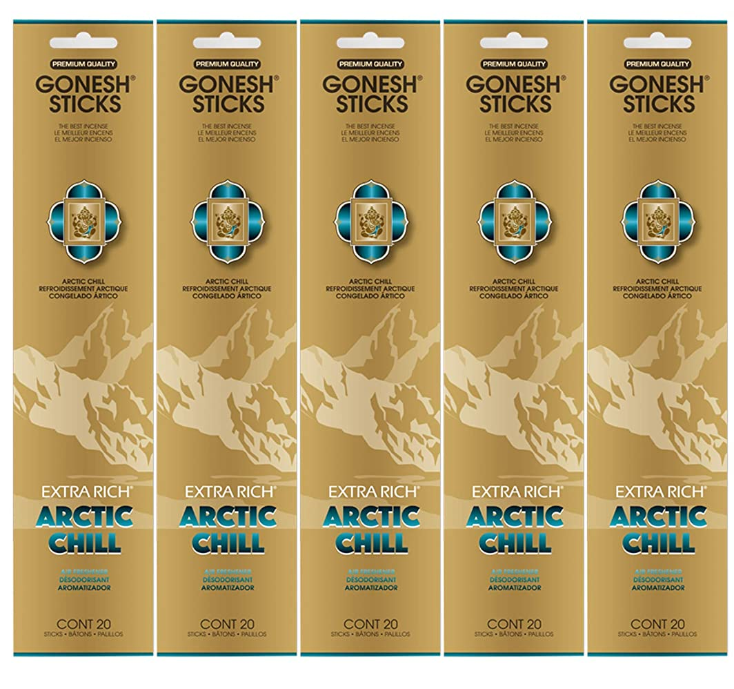 つばキャップ六月Gonesh お香スティック エクストラリッチコレクション - Arctic Chill 5パック (合計100本)