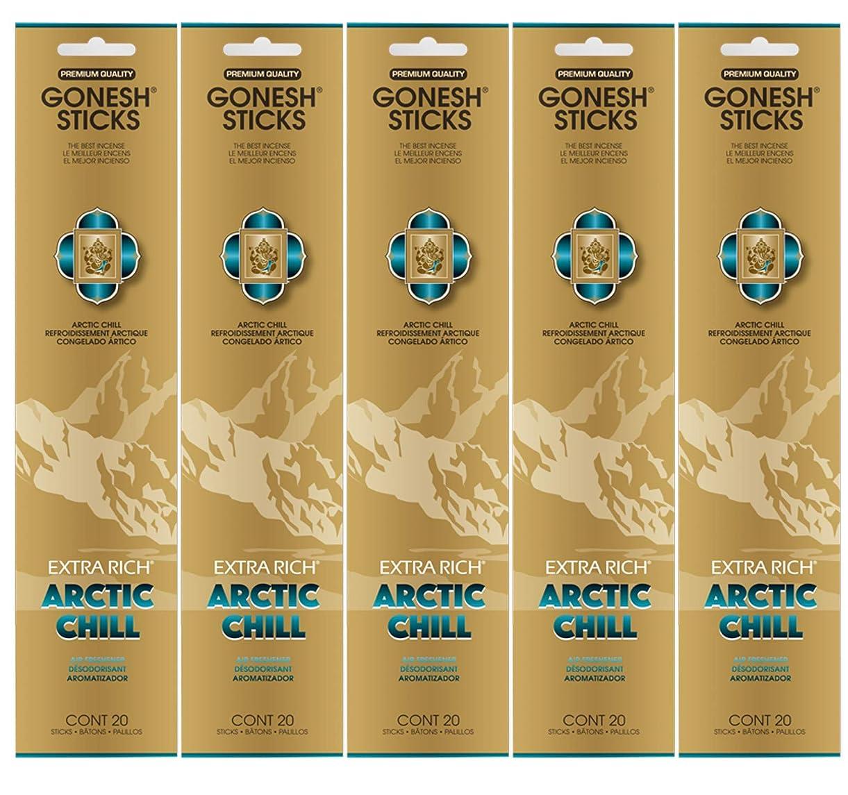 くさび懸念一方、Gonesh お香スティック エクストラリッチコレクション - Arctic Chill 5パック (合計100本)
