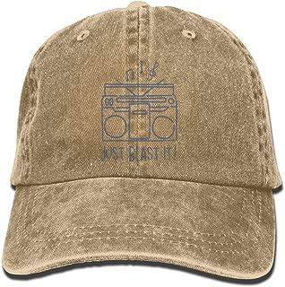 NO4LRM Men's Women's Just Blast It Cotton Adjustable Peaked Baseball Dyed Cap Adult Washed Cowboy Hat