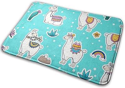 Lama Door Mat Rug Indoor/Front Door/Shower Bathroom Doormat, Non-Slip Doormats, 23.6 X 15.8 Inch