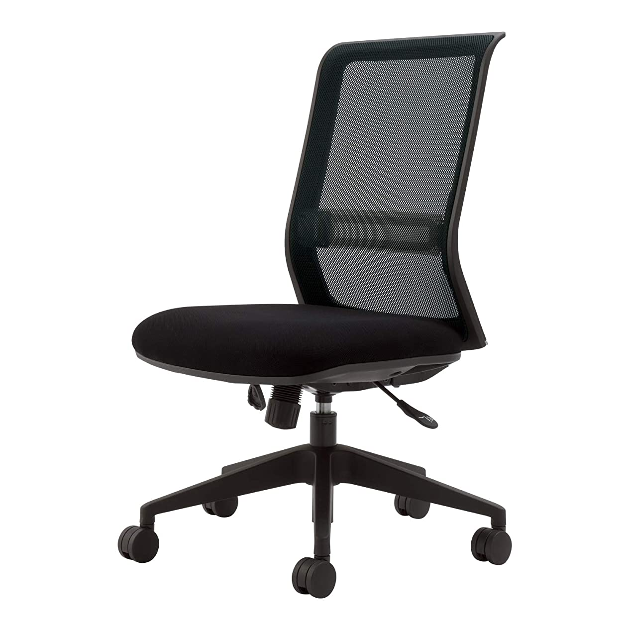 コクヨ オフィスチェア エントリー CR-BK9000BKD-W メッシュタイプ ブラックフレーム 樹脂脚 ブラック