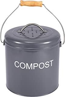 Xbopetda Compost Bin for Kitchen Countertop, Indoor Scraps Compost Bucket with Lid, Kitchen Pail Trash Keeper Container Re...