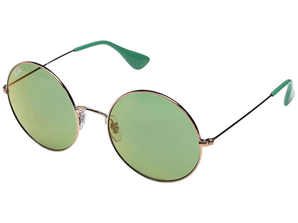 Retro Sunglasses | Vintage Glasses | New Vintage Eyeglasses Ray-Ban 0RB3592 55mm Shiny Copper FrameGreen Mirror Red Lens Fashion Sunglasses $168.00 AT vintagedancer.com
