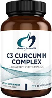 Designs for Health C3 Curcumin Complex - Highly Bioavailable Curcuminoid Turmeric Supplement, 400mg with 3 Bioactive Curcu...