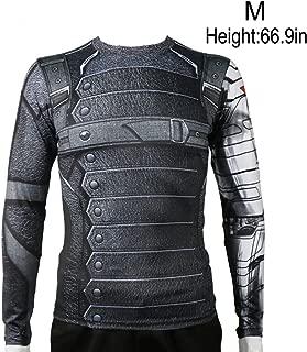 Rulercosplay Winter Soldier Shirt Long Sleeves Sport Shirt Fittness Shirt