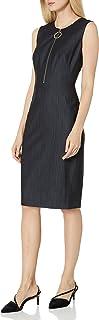 Calvin Klein Women's Sleeveless Sheath Dress with Zipper Front