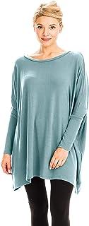 NANAVA Women's Oversize Crew Neck Sweater Fabric Poncho