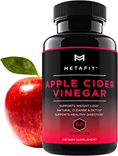 Apple Cider Vinegar Pills for Weight Loss - 60 ACV Capsules for Natural Detox Cleanse Diet - Extra Strength 1250mg Daily S...