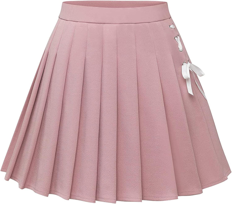 Dressystar Womens Pleated Skirts Skater A-Line Summer Basic Mini Skirt School Girls Uniform