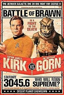 Buyartforless Star Trek Captain Kirk vs The Reptilian Gorn 36x24 Art Print Poster Battle of Brawn - in A Fight to The Death