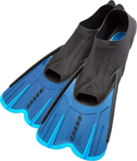 Cressi Adult Short Light Swim Fins with Self-Adjustable Comfortable Full Foot Pocket | Perfect for Traveling | Agua Short: Made in Italy