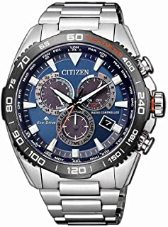CITIZEN Mens Solar Powered Watch, Chronograph Display and Solid Stainless Steel Strap - CB5034-82L