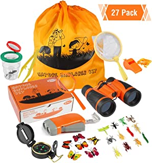 ThinkMax Kit Explorador niños, 27 Piezas Kit de Binoculares